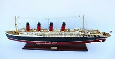 """RMS Lusitania Cunard Cruise Ship Model 39""""  Handcrafted Wooden Model NEW"""