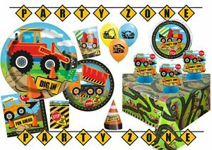 Construction Party Supplies - Tableware, Decorations, Banners, Balloons, Bags