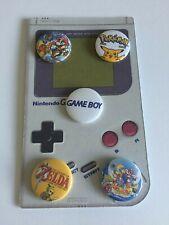 Nintendo Gameboy Retro Pin Badge Set of 5 Pokemon Zelda Mario 25mm Game Boy
