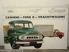 Folder Brochure Prospekt Camions Ford K Vrachtwagens *6287