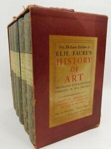 Elie Faure History Of Art 1937 De Luxe Walter Pach 5 Vol Set Vintage RARE Books