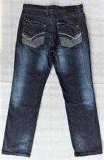 MECCA Men's Whiskered Dark Blue Denim Jeans Tag Size 36/34 Measurements 34.5/33