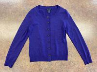 Banana Republic Women Purple Long sleeve Button up Extra fine Merino sweater S