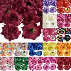 50pcs 50mm Artificial Silk Rose Flower Heads Party Wedding Decor Favor Wholesale