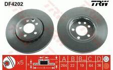 2x TRW Disques de Frein Avant Ventilé 284mm pour ROVER 75 MG DF4202
