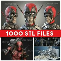 MEGA STL Pack From Marvel/DC/Movies/games for 3d printing