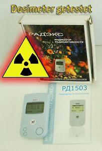Radiation Detector/dosimeter/radiometer/geiger counter RADEX RD1503 PRÜFUNG!