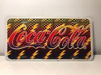1995 Vtg. Coca Cola Coke Throwback License Plate Lightning Bolts multiple Colors