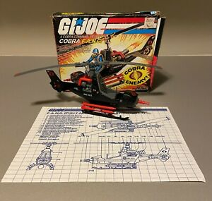 GI Joe 1983 Cobra FANG 100% Complete with Blueprints and Box ARAH