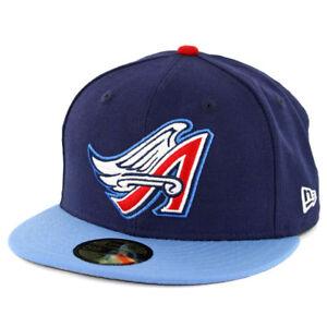 """New Era 59Fifty Anaheim Angels """"Cooperstown"""" 1997 Fitted Hat (Dark Navy) MLB Cap"""