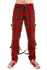 Tartan UK Punk Bondage Pants with Straps. Punk Rock
