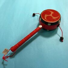 F/S Den Den Daiko Japanese Traditional Toy Drum for Caress Baby Kyoto Japan
