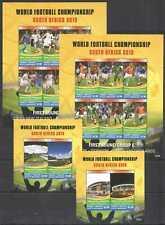 QB1103 GRENADA CARRIACOU SPORT FOOTBALL WORLD CUP SOUTH AFRICA 2010 2KB+2BL MNH