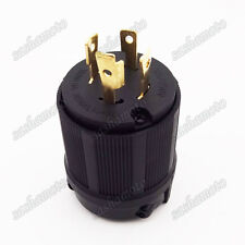 L14-30P 4 Prong Gas Gasoline Generator Locking Plug 30A 125/250V UL Approval