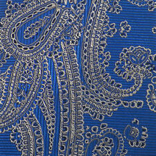 JOS. A. BANK RESERVE Blue Silver Gray PAISLEY Self-tipped Woven Silk Tie NWT