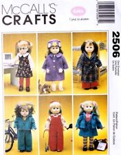 "18"" GIRL DOLL CLOTHES McCall's Sewing Pattern 2506 American Made NEW Uncut"