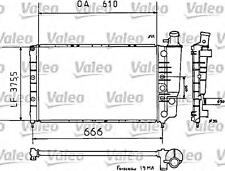 Engine Cooling Radiator VALEO Fits RENAULT 21 Saloon 1.7-2.0L 1986-1995