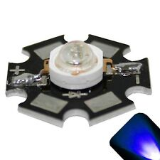 5 x LED 3 Watt Blue Star Super Ultra Bright Wide Angle High Power LEDs 3w w