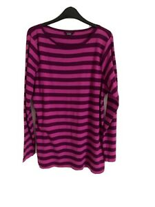 George Size 20 Pink Striped Long Sleeve Top -(C87)