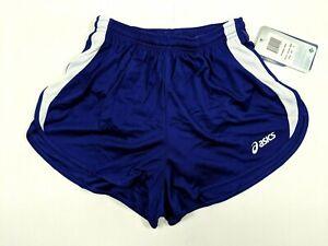 Asics Womens Medley 1/2 Split Running Shorts Purple W/Drawstring Sz S TF755-6301
