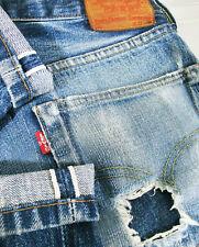 *HOT VINTAGE LVC Men LEVI'S 503xx BIG E REDLINE DISTRESS Jeans 31x30 (Fit 28x30)