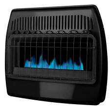30,000 BTU Blue Flame Vent-Free Dual Fuel Garage Wall Convection Heater, Black