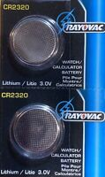 2- CR 2320 Rayovac LITHIUM BATTERIES 3V Watch Exp.2023 Authorized seller.