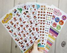 Korea Jetoy Cute Rabbit Girl PVC Diary Decoration Sticker 6 Sheets NEW