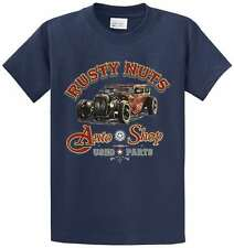 Rusty Nuts Auto Shop Graphic Printed Tee Shirt Men's Regular and Big & Tall Size