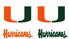 UNIVERSITY OF Miami Hurricanes Large 15 inch Wall - Cornhole Decals / Set of 4