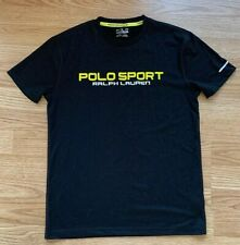 Ralph Lauren Polo Sport Performance T-shirt Mens Size Xs Black Yellow Thermovent
