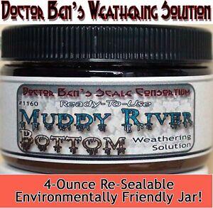 Muddy River Bottom Weathering Solution Doctor Ben's Wood Plastic Metal Resin8611