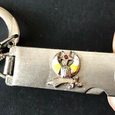 Vintage Shriners Keychain Collectible Masonic Freemasonry Scimitar 3D Emblem