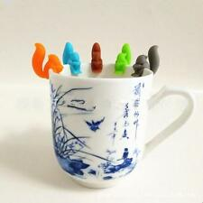 5pcs Squirrels Shape Silicone Tea Infuser Bag Holder Cup Mug Candy Colors Set LD