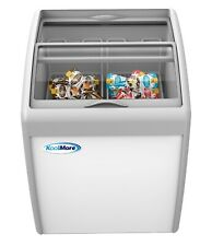 Commercial Ice Cream Chest Freezer 57 Cu Ft With Adjustable Thermostat White