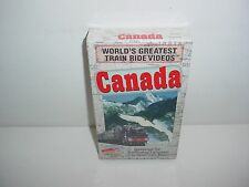 Canada Worlds Greatest Train Ride Videos VHS Video Tape Movie New