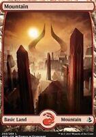 Mountain (Full Art) - Foil x4 Magic the Gathering 4x Amonkhet mtg card lot