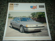 ★★1986 FORD TAURUS INFO SPEC SHEET PHOTO PICTURE 86-89 LX★★