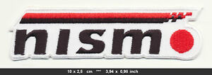 NISMO Patch Embroidered Sew Iron Cars Nissan Motorsports Tuning Racing