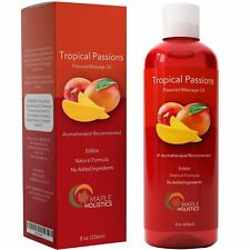 Erotic Massage Oil - 8 Oz Therapeutic + Lubricant + Anti-Aging 100% NATURAL