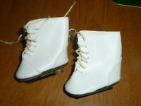 "Vtg Madame Alexander  American Girl Doll's White Ice Skates 2-1/2""  NO DOLL (Q0)"