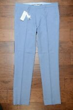 Lacoste Men's Slim Fit Blue Cotton/Linen Casual Dress Pants W34 EU 44