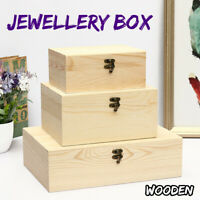 Wooden Vintage Jewelry Boxes Ring Necklace Earrings Jewellery Storage Gift  SU