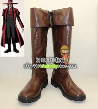 Hellsing Alucard Cosplay Costume Vampire Hunter Boots Boot Shoes Shoe UK