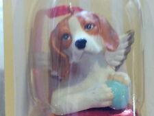 1 Dozen Beagle Dog Figurine Red Brass Bells By Dnc Collectibles 12 Pc Lot
