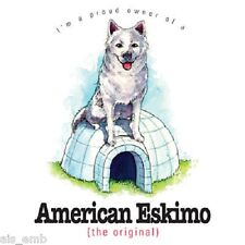 American Eskimo Dog Heat Press Transfer for T Shirt Tote Sweatshirt Fabric #802c