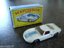 MATCHBOX lesney série n ° 41 FORD GT Racer boxed complet 1969? 1970 Nice?