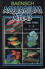 BAENSCH Aquarium Atlas PHOTO INDEX New 3rd. Edition