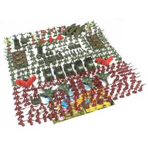 307 Pcs 4.5cm Plastic Toy Soldier Playset Army Men Action Figure Scene Model