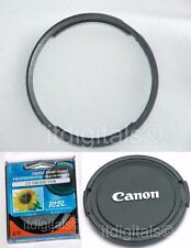 For Canon Powershot SX40 HS 58mm Filter Adapter Ring + UV Filter + Lens Cap New